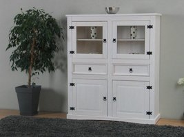 New Mexico highboard dressoir wit grenen
