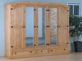 New Mexico 5-deurs kledingkast met spiegel