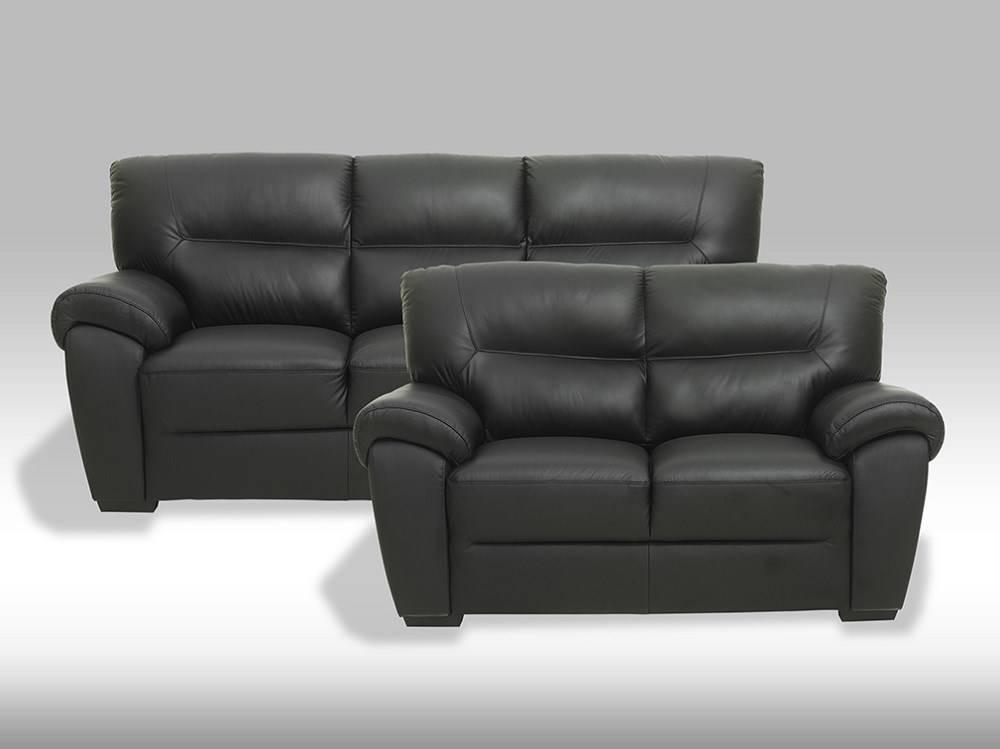 Bamo leren bankstel 3 zits 2 zitsbank zwart online meubels goedkope meubels - Houtkleur zwart ...