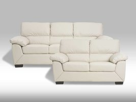 Solliden Rica bankstel creme wit bonded leather
