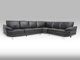 Solliden Swan hoekbank zwart model 32 bonded leather