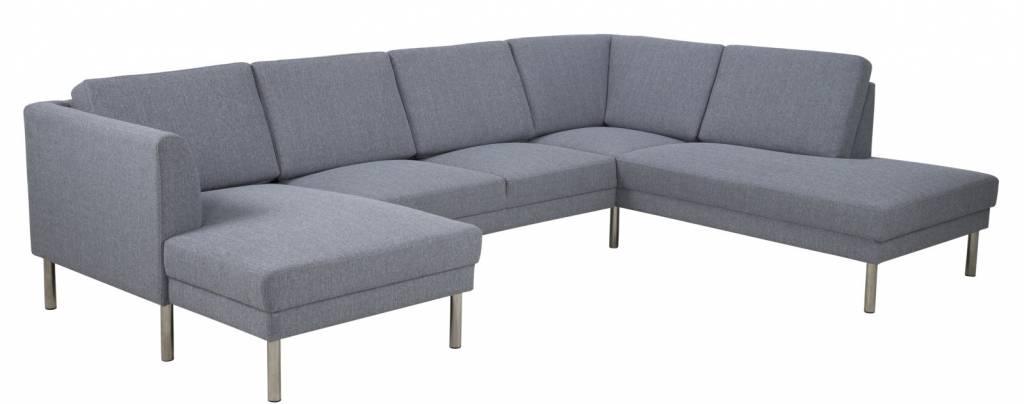fyn cothen hoekbank lichtgrijs met ottomane links. Black Bedroom Furniture Sets. Home Design Ideas