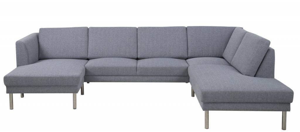 ... lichtgrijs met ottomane links - hioshop.nl - online meubels - goedkope