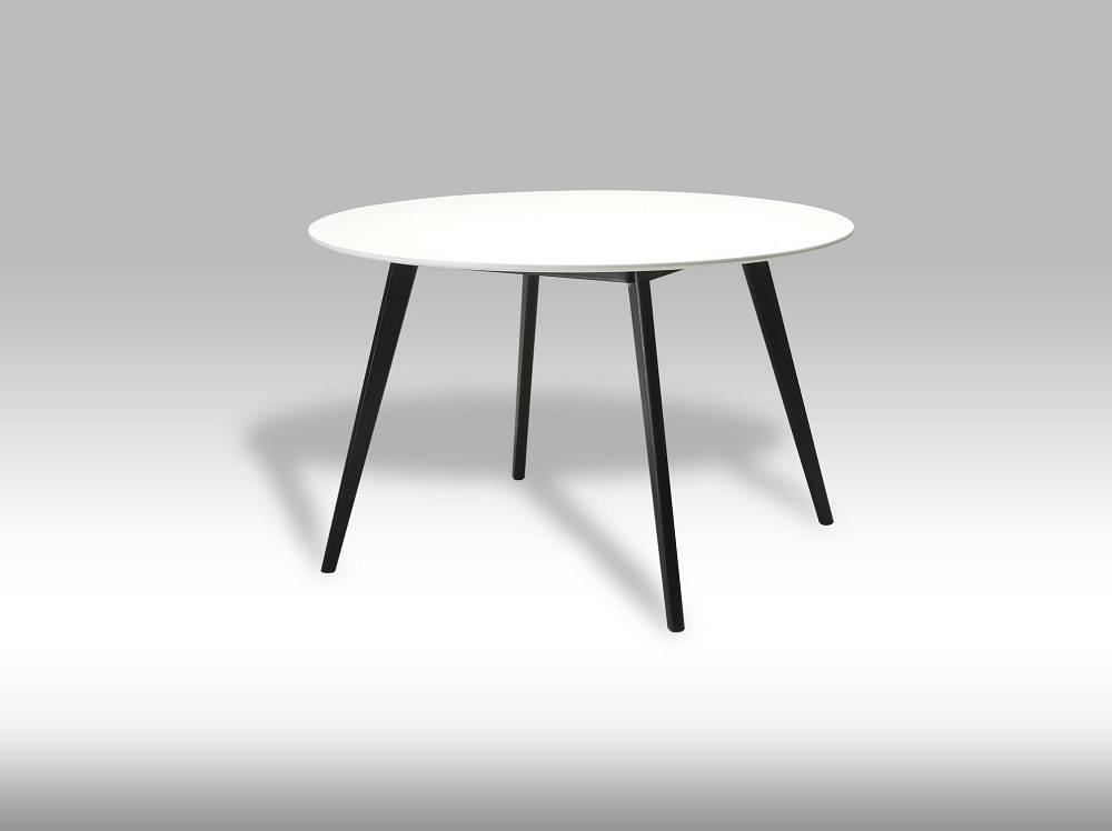 Livie ronde eettafel 120 cm wit/zwart
