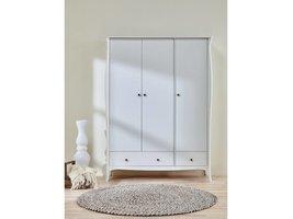 Baroque kledingkast 3-deurs wit