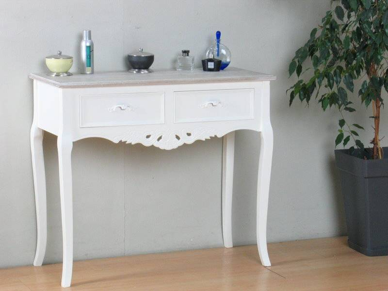 Barcelona sidetable wit met 2 lades