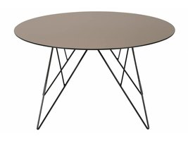 FYN Plymouth salontafel rond spiegelglas brons