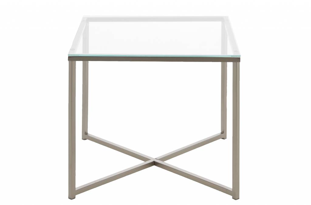 Cape bijzettafel glas vierkant 50 cm