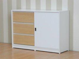 Tvilum Cicci dressoir wit met 3 lades en 1 schuifdeur