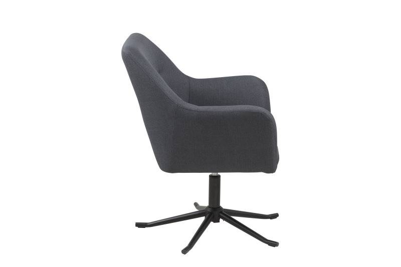 Gaby relaxfauteuil donkergrijs