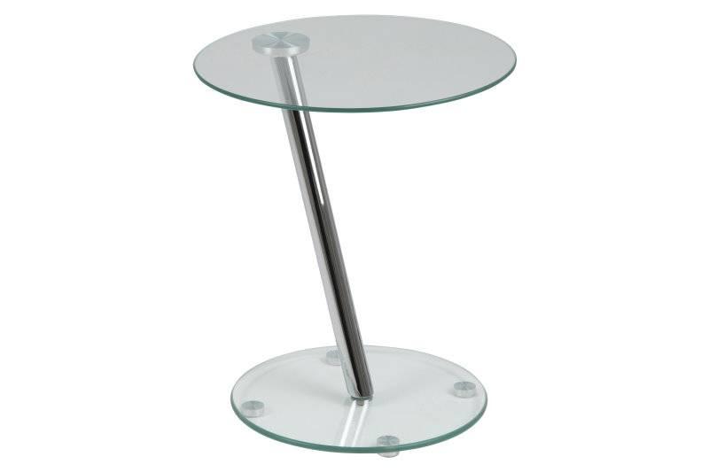 Darie bijzettafel glas rond