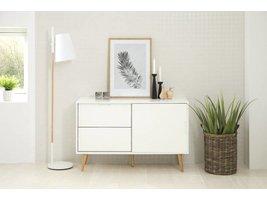 FYN Emmie dressoir hoogglans wit 131 cm breed