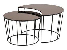 FYN Sunny set salontafels spiegelglas brons