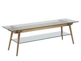 FYN Ted TV-meubel glas 160x45x50 cm