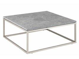 FYN Bradie salontafel grijs Alanya marmer 80x80 cm vierkant