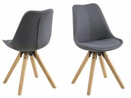 FYN Dunja eetkamerstoel donkergrijs - set van 2 stoelen