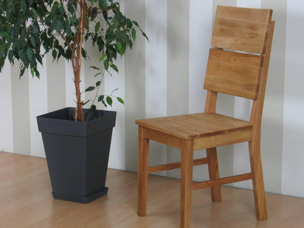 Mark eetkamerstoel eiken set van 2 stoelen
