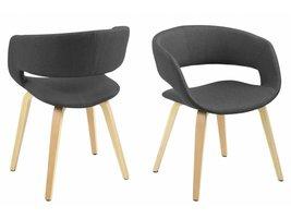FYN Gramma eetkamerstoel donkergrijs - set van 2 stoelen