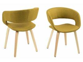 FYN Gramma eetkamerstoel geel - set van 2 stoelen