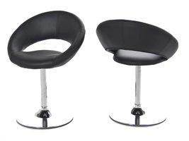 FYN Plus - Eetkamerstoel - Lederlook Zwart - set van 2 stoelen