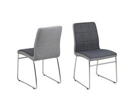 FYN Joeri - Eetkamerstoel - Donkergrijs - set van 4 stoelen