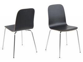 FYN Bjarne eetkamerstoel zwart - set van 4 stoelen