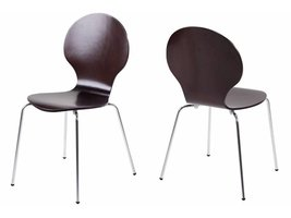 FYN Mounir eetkamerstoel - vlinderstoel wenge - set van 4 stoelen
