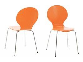 FYN Mounir eetkamerstoel oranje - set van 4 stoelen