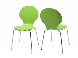 FYN Mounir vlinderstoel lime - jasmijngroen - set van 4 stoelen