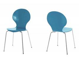 FYN Mounir eetkamerstoel vlinderstoel kobaltblauw - set van 4 stoelen