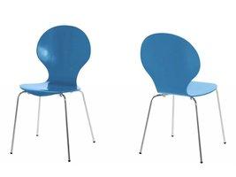 FYN Mounir eetkamerstoel hemelsblauw - set van 4 stoelen