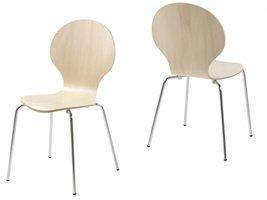 FYN Mounir - Vlinderstoel - Maple - set van 4 stoelen