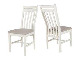 Canett Skagen eetkamerstoel wit / beige linnen - set van 2 stoelen