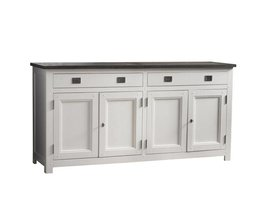 Canett Skagen dressoir 4 deuren wit / grijs