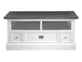 Canett Skagen TV-meubel 120 cm met 3 lades wit/grijs