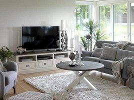 Canett Skagen TV-meubel 180 cm met 3 lades wit/grijs