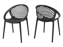 Canett Elements stapelstoel mat zwart - set van 4 stoelen