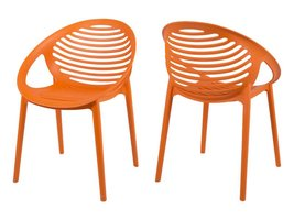 Canett Elements stapelstoel mat oranje - set van 4 stoelen
