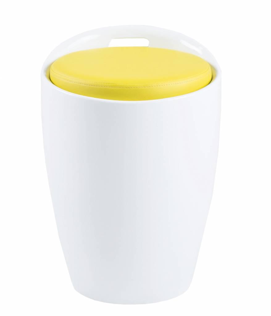 FYN Mito hocker wit geel