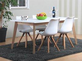 Lissabon eethoek met 4 witte stoelen Nelle