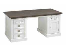 Canett Skagen bureau met 7 lades en 1 deur wit/grijs