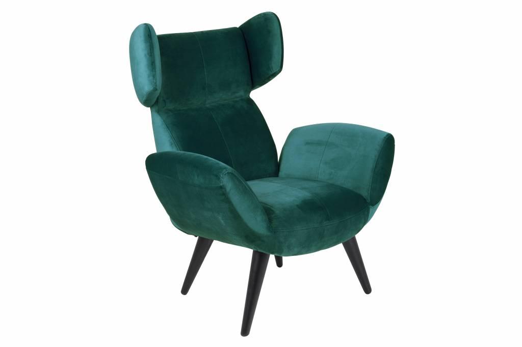 Bell fauteuil flessengroen stof