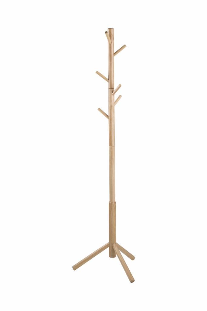 Bella staande kapstok hout 176 cm hoog