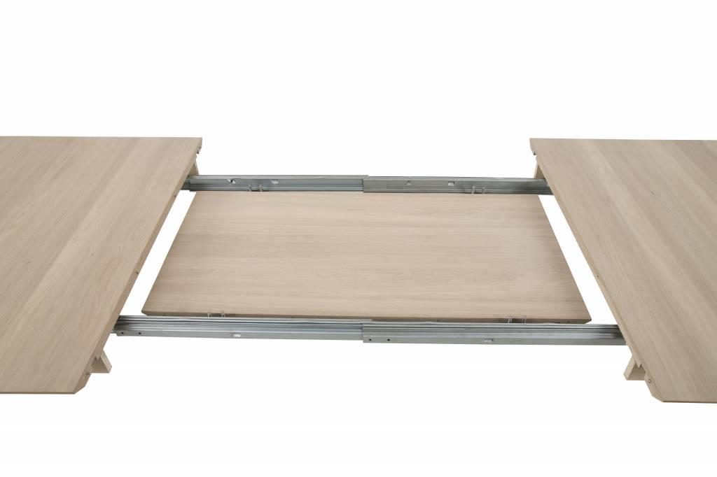 Cent aansteekplaten bij eiken tafel set van 2 x 50 cm