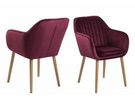 FYN Emil fauteuil stof met verticale naden - bordeaux / paars