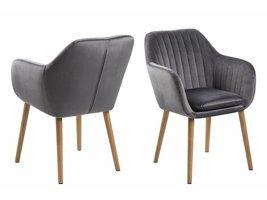 FYN Emil fauteuil stof Corsica met verticale naden - donkergrijs