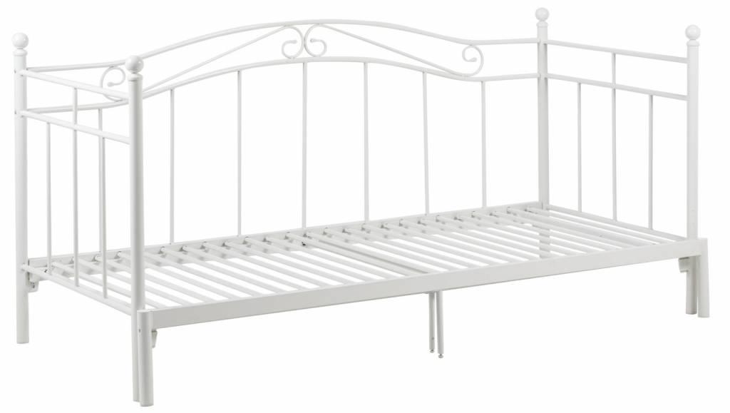 Bane bed wit metaal slaapbank uittrekbaar