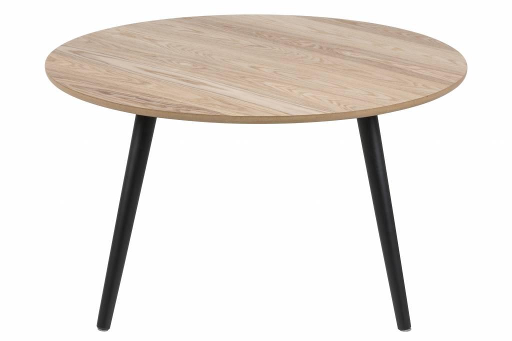 Fyn staff salontafel rond essen decor met zwarte poten Ø cm