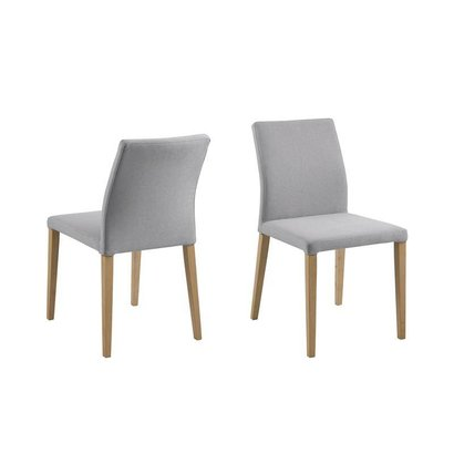 FYN Zill eetkamerstoel stof lichtgrijs - set van 2 stoelen