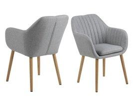 FYN Emil fauteuil stof VIC met verticale naden - lichtgrijs